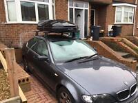 BMW roof bars, roof box