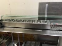 catering equipment from a sandwich shop inc 9 pot salad bar large hot plate