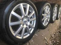 "New 16"" VW Golf mk7 alloy wheels +Pirelli winter tyres MK5 MK6 Eos Audi A3 5x112 CAN POST"