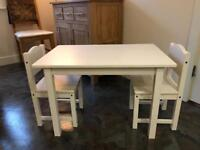 Ikea sundvik Children's table and two chairs