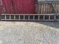 Reclaimed Old Vintage 10' Double Wooden Ladders Upcycle Re Purpose Bookcase Shelves etc