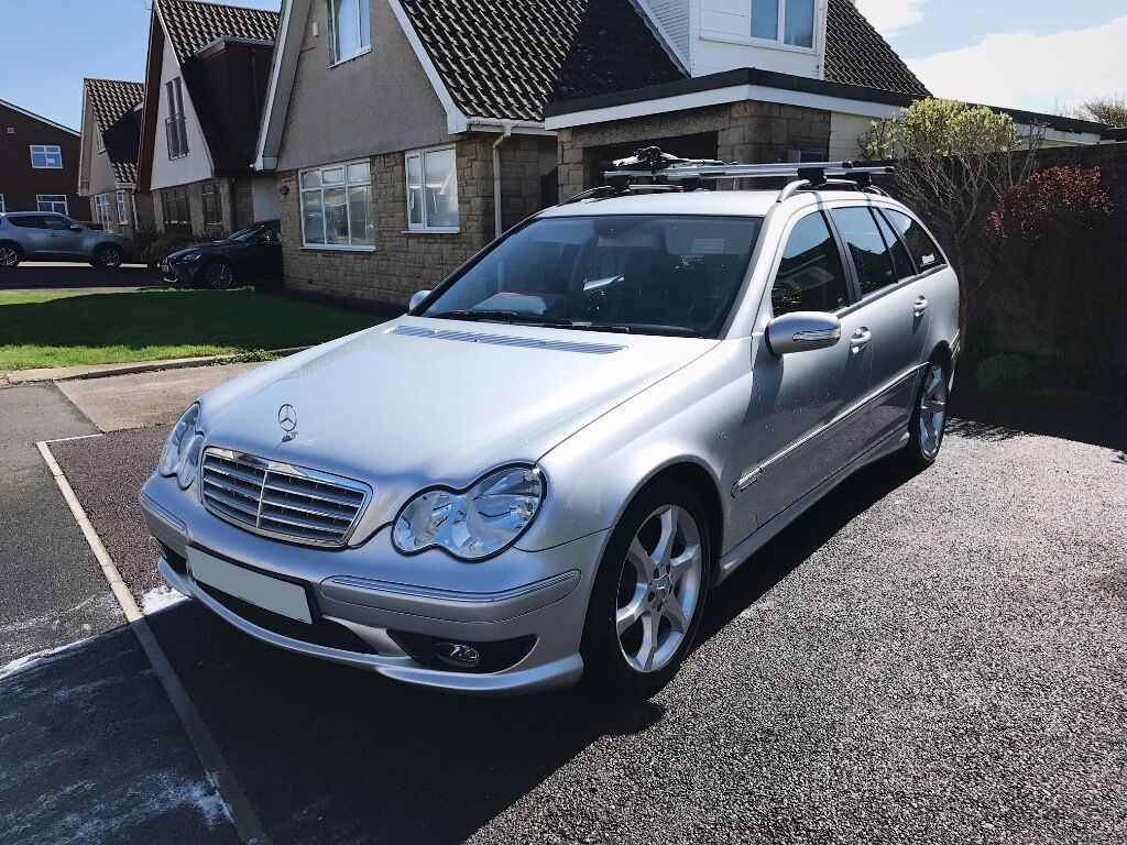 2007 mercedes c220 cdi sport edition silver estate amg c class diesel in porthcawl bridgend. Black Bedroom Furniture Sets. Home Design Ideas