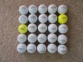 25 x CALLAWAY GOLF BALLS, Grade A, lovely condition!