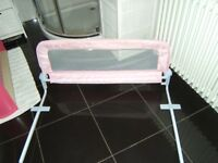 pink baby safety bed Rail