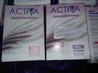 Activa Compression Support Socks Class 1 Black Eleven pairss