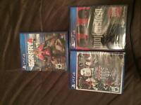 3 brand new ps4 games