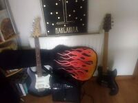 Aria pro 2 thor, Yamaha without strings, Amp, carry case