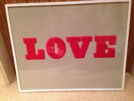 LOVE Framed poster picture