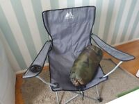 Camping Chair and seeping bag