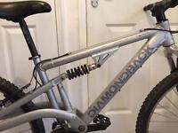 Diamond back mountain bike full suspension looks like new