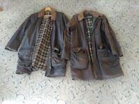 2 genuine Barbour jackets. Mens medium, approx size 38. 1 Solway Zipper, 1 Gamefair