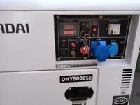 Hyundai Diesel Generator DHY 8000 se only 94.5 hours on the clock.