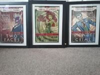 3 x Batman carnival of crime framed prints