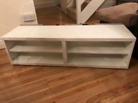 IKEA white tv stand unit