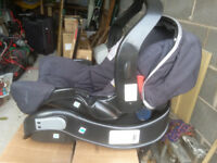 Graco Mirage full Travel system pushchair, car seat, isofix slot