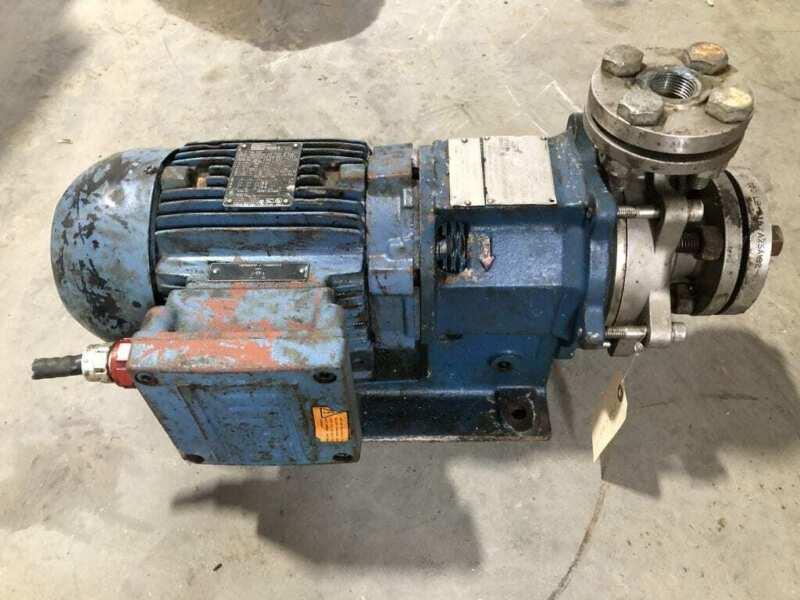 "Magnatex MP420-N25N-140TC 2HP 316SS Magnetic Drive Pump 3.5GPM 1.5"" X 1"" X 5"""