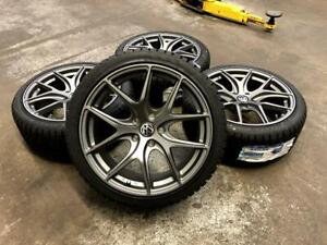 18 AVANTE GARDE WHEELS 5x112 and SAILUN WINTER TIRES 225/40R18 (VOLKSWAGE GTI. JETTA, GOLF) Calgary Alberta Preview