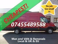 Cheapest! Hampshire Andover Winchester Basingstoke Man and VAN With Large 19m3 VAN removal removals