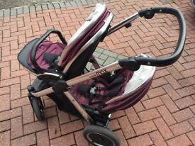 Oyster Max double pram, like new