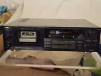 Aiwa AD-F880 3-head cassette deck, needs attention