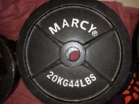 Marcy Olympic Cast Iron Plates 2 x 20kg