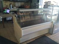 5 Serve over display units, glass, counter, fridge hot plate, cafe, restaurant, deli