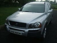 VOLVO XC90 D5 DIESEL AUTO SILVER JEEP 4X4 SUV BLACK LEATHER 7 SEATER TOW BAR WINTER TYRES ALLOYS