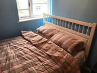 IKEA KING SIZE BED AND MATTRESS 1 YEAR OLD