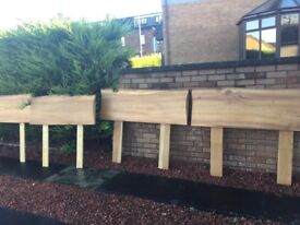 Hand made Scottish Elm Head boards 2 doubles and 2 singles for sale
