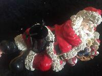 Santa tree holder