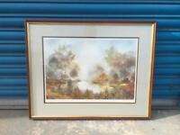 Golden Pool By Anthony Waller vintage Framed mounted landscape art print. Ltd Edition - SDHC