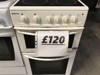 *BEKO 50CM ELECTRIC CERAMIC GLASS TOP COOKER+GOOD WORKING+FREE DELIVERY+VERY CLEAN+1 MONTH WARRANTY*