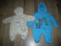 2 x Beautiful new born suits both in excellent condition and lovely soft material.