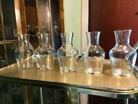5 x 500ml Glass Carafes.