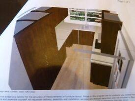 IKEA Kitchen Oak Effect (Boxed as new) includes Oven, Extractor Hood, Hob, Fridge Freezer,