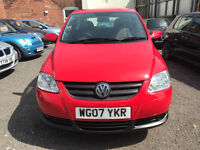 Volkswagen FOX 1.2 3dr- 2007, 2 Lady Owners, 73K Miles, 2 Keys, 12 MONTHS MOT, Service History £1595