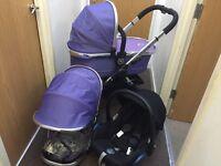 Icandy peach 2 parma violet full travel sustem pushchair