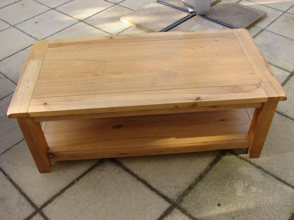 Large Heavy Solid Oak Coffee Table with Storage Shelf in  : 86 from www.gumtree.com size 1024 x 768 jpeg 153kB