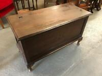 Beautiful very old solid blanket box on Queen Anne legs