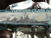 Model kit. Revell, US Fletcher class destroyer. Unused. 1 to 144 scale. Original. REDUCED
