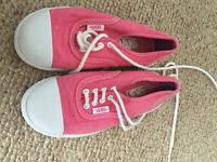 Vans Pink Trainers Like New. UK kids size 10