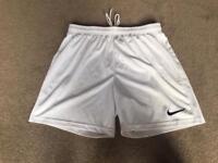 Nike white sport shorts size M