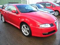 aifa romeo gt coupe 2.0 diesel bright red full leather full years mot