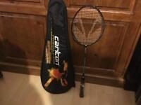 Badminton rackets.
