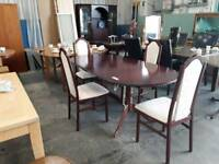 Caxton Extendable Dining Table With Four Chairs - Delivery Available