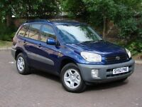 EXCELLENT 4X4!!! 52 REG TOYOTA RAV4 2.0 VVT-i NV 5dr, 1 YEAR MOT, FSH, PARKING SENSORS, WARRANTY