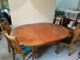 GPlan dining table and chairs