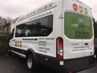 Minibus Hire With Driver, Male/Female Drivers available. Card Payments Accepted. Superb Service.