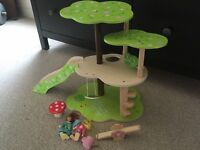 Wooden play treehouse