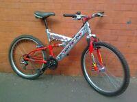 Barracuda Mountain Bike - aluminium frame , full suspension , comfortable seat .....